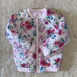 Reversible pink toddler puffer jacket 18-24 mo